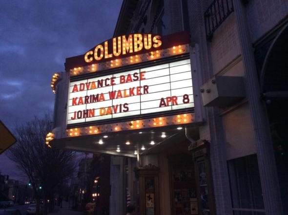 columbus theater marquee