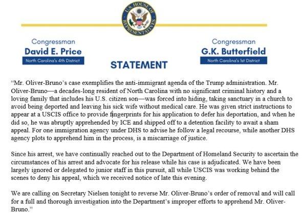 PB statement on Samuel Oliver Bruno